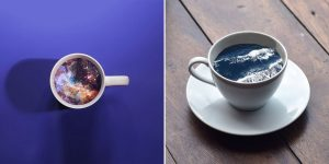 Beautiful, Dramatic Illustrations Of Ocean Waves And Galaxies In Coffee Mugs By Victoria Siemer