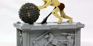 Watch This Kick-Ass LEGO Sisyphus Push His Boulder Till The End Of Time