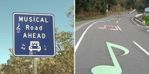 Musical Roads That Play Melodies When Cars Drive Over