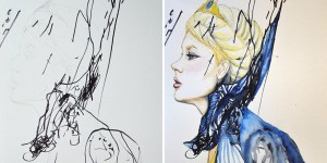 Mom Turns Her 3-Year-Old's Doodles Into Paintings