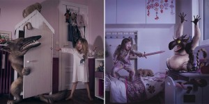 These Photos Of Children Fighting Monsters From Their Nightmares Are Adorable
