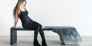 This Artist Designs A Bench Inspired By Glaciers And Natural Earth Formations