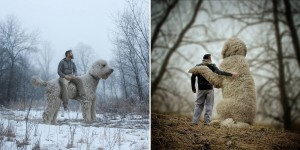 This Guy Photoshops His Dog Into A Giant In All His Pics And It's Hilarious