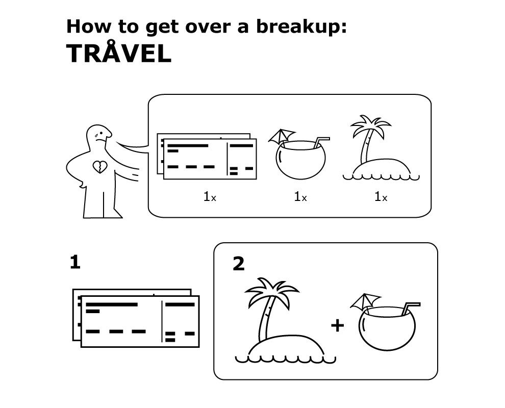 IKEA-Inspired Manuals Will Teach You How To Get Over A Breakup