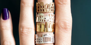 Outstanding Architectural Rings By Ola Shekhtman