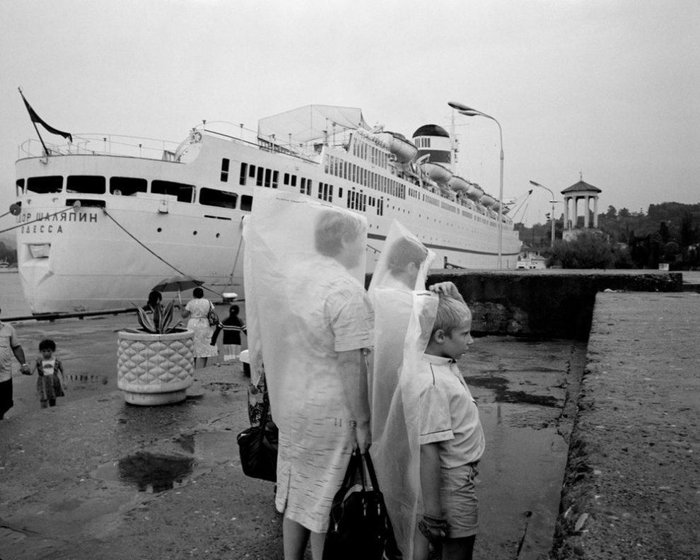 RUSSIA. Sochi. Russian riviera. Harbor. 1988.