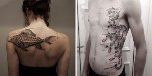 Surreal Animal Hybrid Tattoos Look Like Quirky Sketchbook Drawings