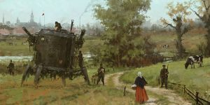 Bizarre Paintings Of Mecha Robots And Werewolves Attacking East European Peasants Of The Early 20th Century