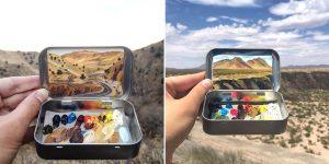 An Artist Paints Tiny Masterpieces Inside Her Empty Altoids Tins