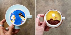 Korean Barista Creates Impressive Art On Your Coffee Foam