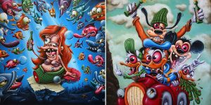 Disney's Bastards – The Provocative Paintings By Gilen Bousquet