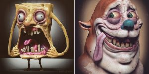 Artist Wil Hughes Shows How Pop Culture Icons Would Look In Real Life, And It Will Give You Nightmares