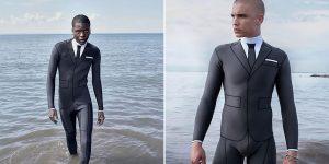 "Designer Puts The ""Suit"" In Wetsuit With $3,900 Optical Illusion"