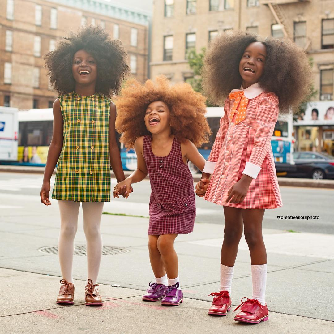 Afro girls with Black Girl