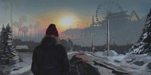 """Chromatic Horizon"": The Superb Neon-Noire Art By Tony Skeor"