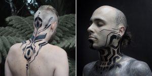 Circuits And Nature Unite In Georgie Williams' Futuristic Tattoos