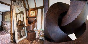 Alex Chinneck Transforms An Antique Grandfather Clock Into A Flexible Sculpture