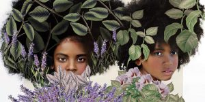 Digitally Altered Portraits Superimposed With Flowers, Antique Patterns, And Wildlife Illustrations By Tawny Chatmon