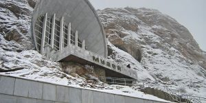 A Soviet-Era Museum In Kyrgyzstan, Built Into The Side Of A Mountain Containing over 33,000 Archeological Artifacts