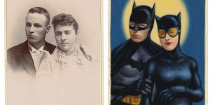 Artist Transforms Victorian Portraits Into Modern Pop Culture Trading Cards