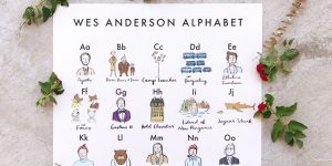 Illustrator Re-Designs The Alphabet Using Wes Anderson Characters