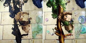 Artist Paints Creatures She Sees 'Living' In The Walls Due To Pareidolia