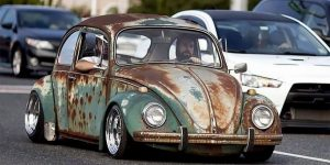 Stunning Photos Of Volkswagen Beetle Rat Rods With Patina Look On The Streets