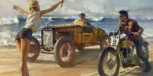 """""""Fuel For The Soul"""": Outstanding Nostalgic Motorcycle Paintings Of David Uhl"""