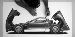 Realistic Classic Car Drawings By Alessandro Paglia