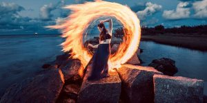 Zach Alan's Light Painting Photographs Are Fire – Literally!