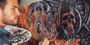 """""""Blackest Paint Colored Brush"""": Suerb Horror, Fantasy And Sci-Fi Drawings Of Christopher Lovell"""