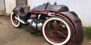 "Russian Craftsmen Built This Steampunk Trike Inspired By ""Joseph Stalin"" Locomotive"