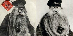 Amazing Portraits Of Louis Coulon And His 11-Foot Beard As A Nest For His Cats