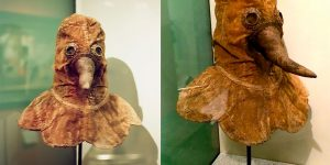 An Authentic 16th Century Plague Doctor Mask Preserved And On Display At The German Museum Of Medical History