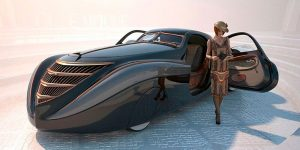 Incredible Futuristic-Looking 1939 Duesenberg Coupe Simone Midnight Ghost