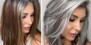 Hairdresser Encourages Women To Embrace Their Grey Hair Instead Of Dying It