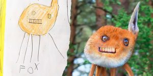 Artist Photoshops Kids' Drawings As If They Were Real, And It's Terrifyingly Funny