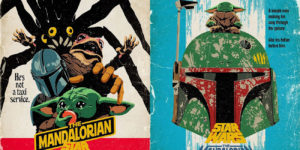 Artist Transforms Quotes From 'The Mandalorian' Season Two Into Retro Movie Posters