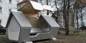"""Ulm Nest"": Sleep Capsules Are Designed to Protect Ulm Homeless People from Freezing to Death"