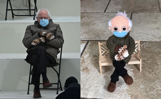 Artist Created a Crochet Bernie Sanders Doll and It Is the Cutest Thing Ever