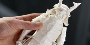 Artist Spent 50 Hour Process of Folding an Origami Samurai from A Single Square Sheet of Paper