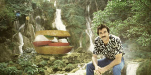 Tom Selleck Photoshopped Into Waterfall Scenes With a Sandwich