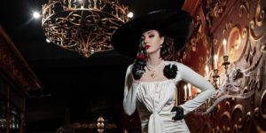 World's Tallest Supermodel and Olympian Breaks Internet with Lady Dimitrescu Resident Evil Cosplay