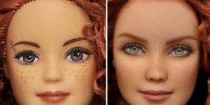 Artist Repaints Dolls In A More Realistic Way
