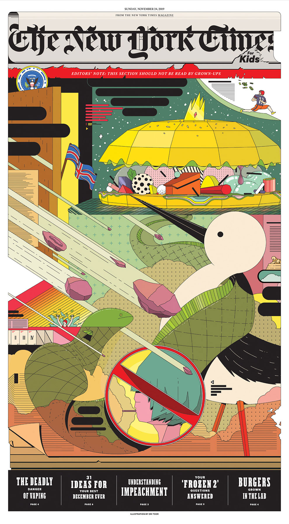 """""""Future Utopia"""": The Supercool and Detailed Illustrations by Ori Toor"""