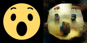 Someone Fed Facebook Emojis Into A Neural Net And Made Them in Style of Zdzisław Beksiński