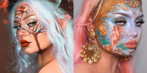 This Artist Uses Makeup To Create Art On Her Face