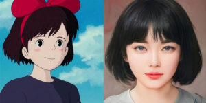 Person Uses Artificial Intelligence To Make Anime And Cartoon Characters Look More Realistic