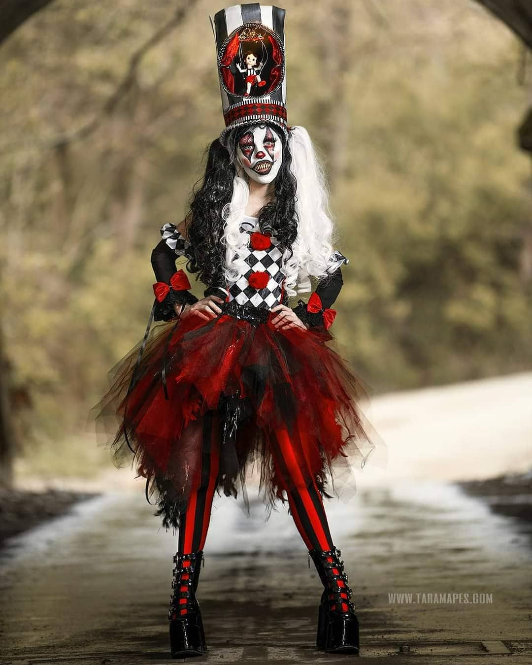 Photographer Captures a Dark Carnival Themed Photoshoot to Create Couture Clowns in Abandoned Creepy Nature