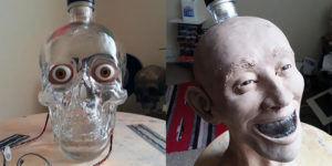 Forensic Artist Reconstructs Face From A Skull-Shaped Vodka Bottle